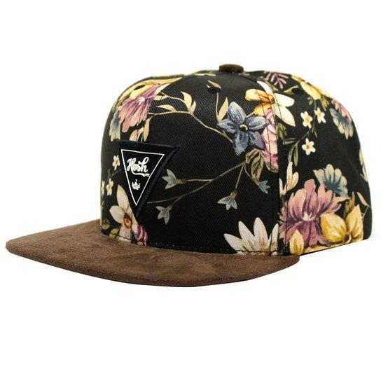 Boné Aba Reta Snapback Hoshwer Brown Flowers - Compre Agora  b3b7dc577d6