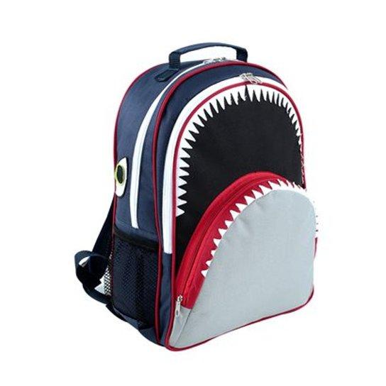 50847e657 Mochila Infantil Mumagi Escolar Tubarão Tuba Masculino - Marinho+Cinza
