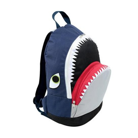 28060998c Mochila Infantil Mumagi Passeio Tubarão Tuba Masculino - Marinho+Cinza