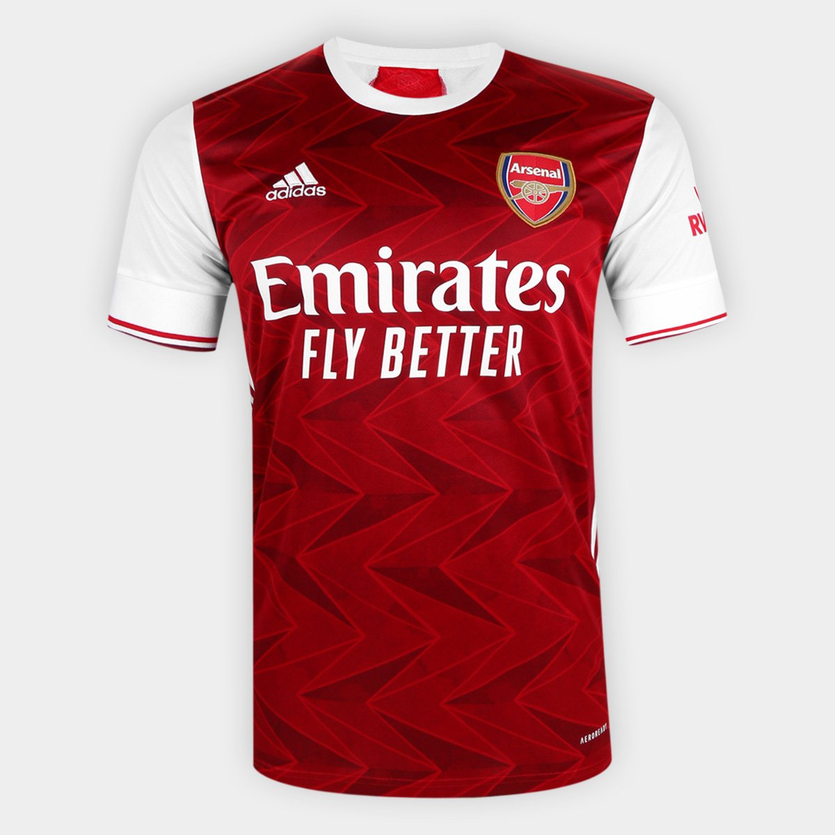 Camisa Arsenal Home 20/21 s/nº Torcedor Adidas Masculina
