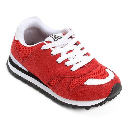 4768620505c1f Tênis Infantil Addan Jogging Masculino - Vermelho e Branco - Compre ...