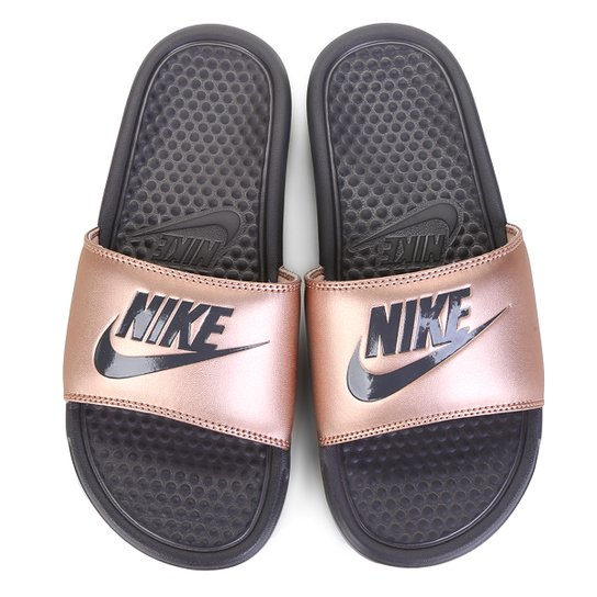4767f3c1f60 Chinelo Nike Benassi JDI Slide Feminina - Cobre - Compre Agora ...