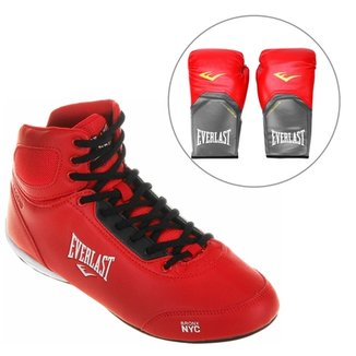 Kit Tênis Everlast Legend + Luva de Boxe Muay Thai 14 oz 5fc2781451689