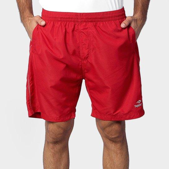 Short Topper Basic 3 - Vermelho e Cinza - Compre Agora  de6efc34123c5