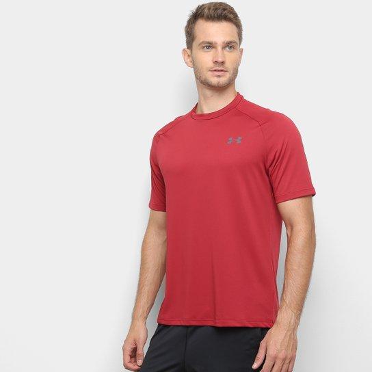 99e191978f9 Camiseta Under Armour Tech Ss Masculina - Vermelho e Cinza - Compre ...