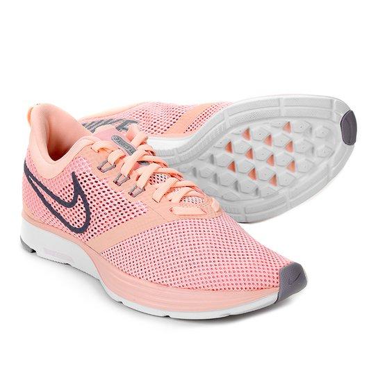 98b91f40c Tênis Nike Zoom Strike Feminino - Vermelho+Cinza