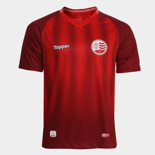 Camisa Náutico III 2018 s n° Aflitos - Torcedor Topper Masculina - Vermelho c8c1f35d8d6ba
