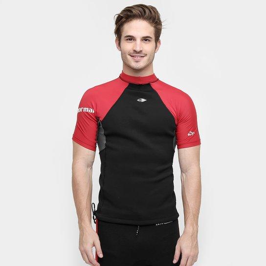 Camisa Surf Mormaii Neoprene Extra Line 0.5 mm Masculina - Vermelho+Cinza e38a976088