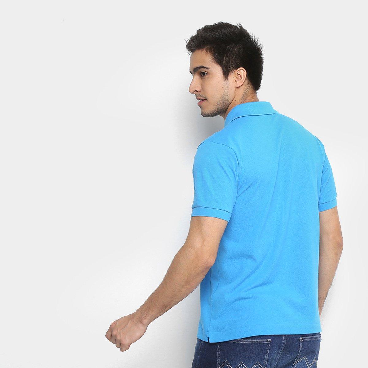 Camisa Polo Lacoste Piquet Original Fit Masculina - Shopping TudoAzul 83c447eedb496