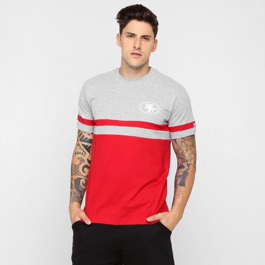 f1b71e29712a2 Camiseta New Era San Francisco 49ers - Vermelho+Cinza