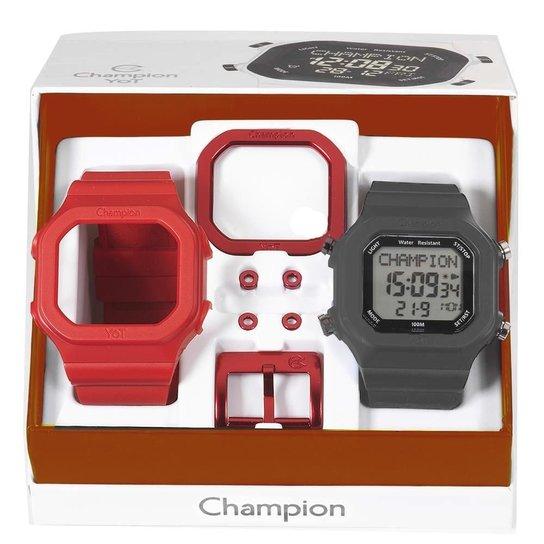 e8acde1b780 Relógio Unissex Champion Digital Cp40180x Troca Pulseira - Vermelho+Cinza