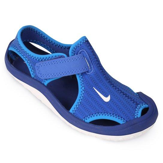 dfbb2f705 Sandália Nike Sunray Protect BT Infantil - Azul+Branco
