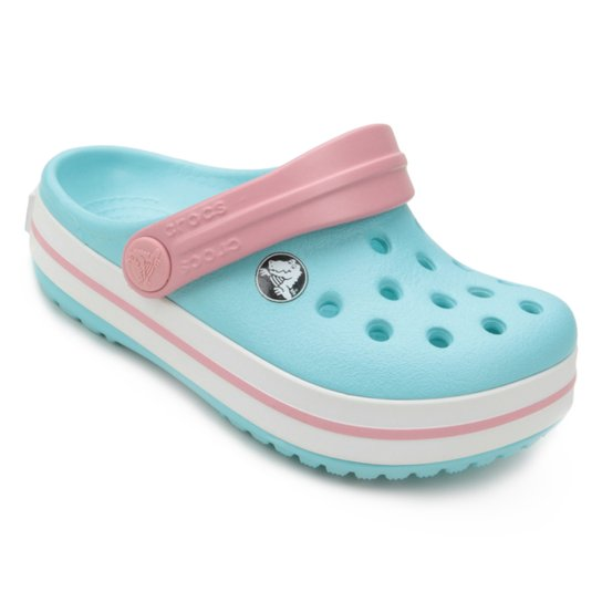 0d6dfc9113799 Sandália Crocs Infantil Crocband - Azul e Branco - Compre Agora ...