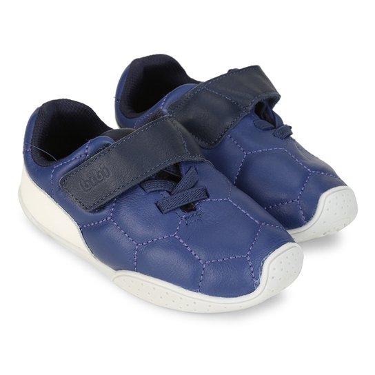 063e0faf6 Tênis Infantil Couro Bibi Fisioflex Masculino - Azul e Branco | Netshoes