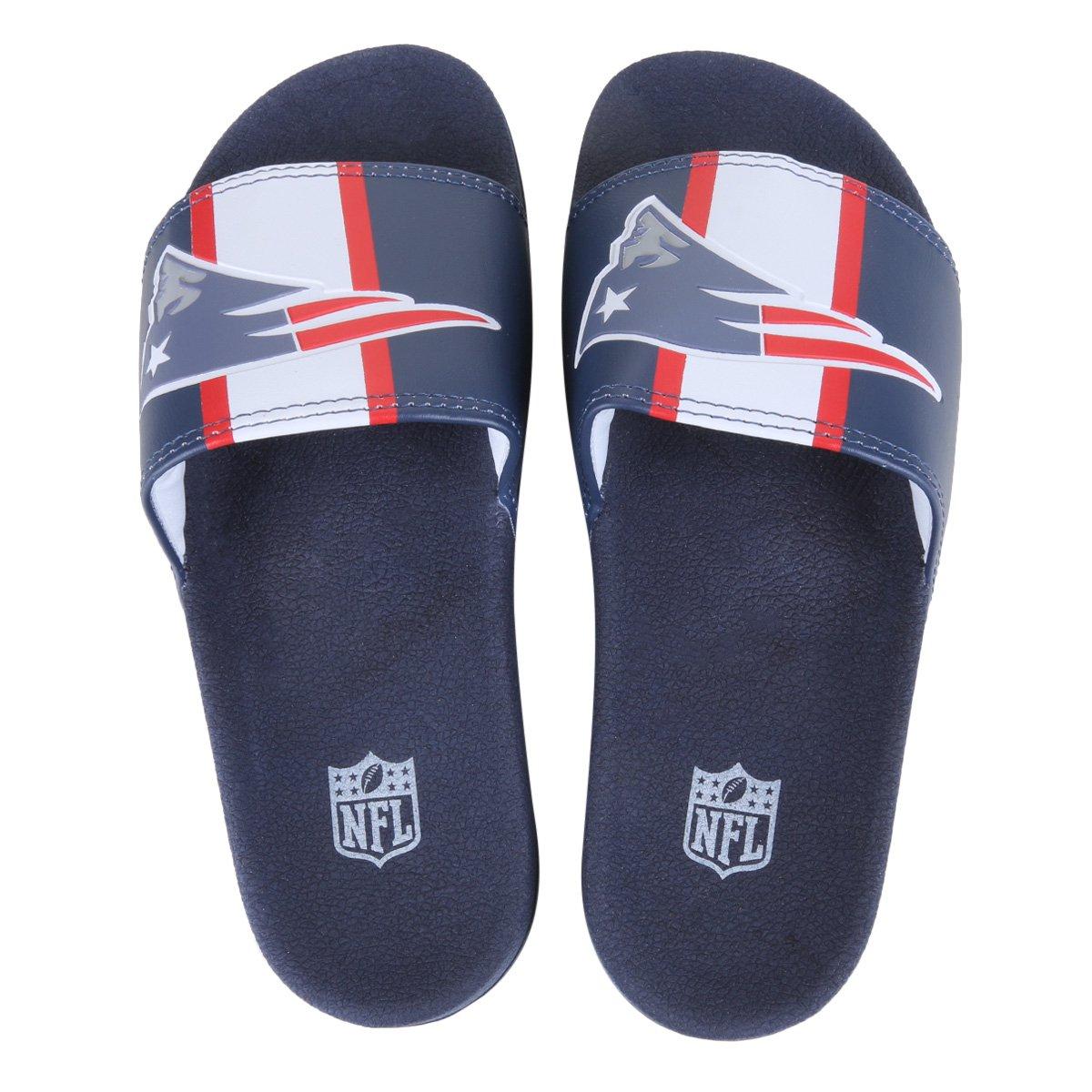 Chinelo Slide NFL New England Patriots Masculino