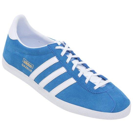 bbddf7b9a6 Tênis Adidas Gazelle OG - Azul Turquesa+Branco