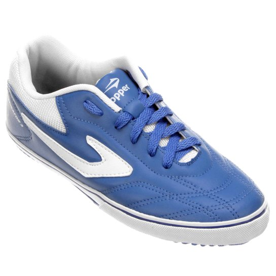 fa8aeb135d Chuteira Futsal Topper Dominator 3 - Azul e Branco - Compre Agora ...