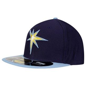 Boné New Era 5950 BP Diamond Tampa Bay Rays Team Color e671626dd8a