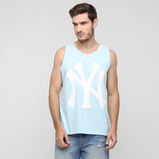 Camiseta Regata New Era MLB New York Yankees - Azul Claro+Branco f063b12da99