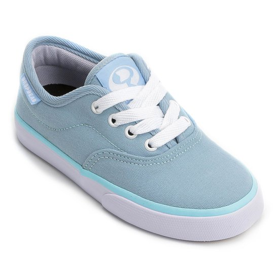 e74ab01ea24 Tênis Infantil Drop Dead Stone Feminino - Azul e Branco - Compre ...