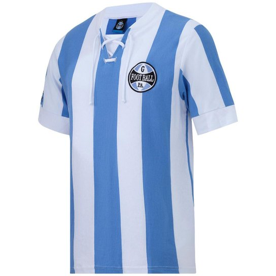 9c6a4d6823501 Camisa Retrô Grêmio 1917 Masculina - Azul e Branco - Compre Agora ...