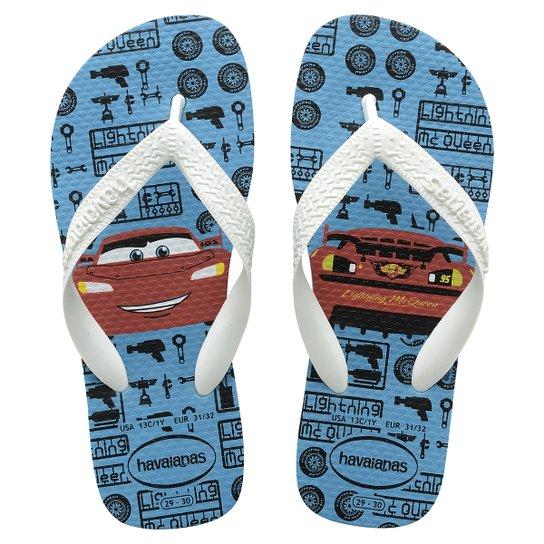 25352f418 Havaianas Kids Cars - Azul e Branco   Netshoes