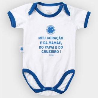Body Cruzeiro Infantil Meu Coração É... Bebê f144759fd7cc1