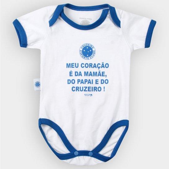 f74be147bf323 Body Cruzeiro Infantil Meu Coração É... Bebê - Azul e Branco ...