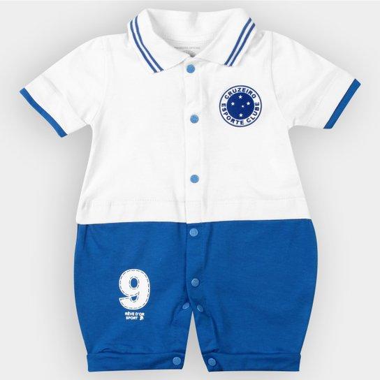 b3922fde2653e Macacão Cruzeiro Bebê Uniforme Campo - Azul e Branco - Compre Agora ...