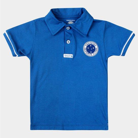 Camisa Polo Cruzeiro Infantil - Azul e Branco - Compre Agora   Netshoes f4ace153e1
