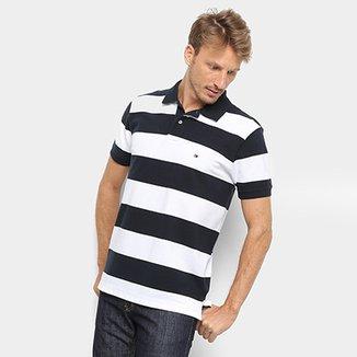a3b060dc96 Camisa Polo Tommy Hilfiger Listrada Block Stripe Regular Masculina