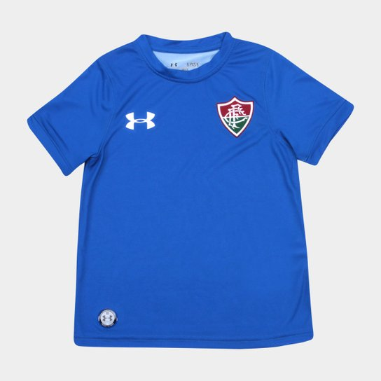 Camisa Fluminense I Infantil 17 18 s nº Torcedor Under Armour - Azul ... 232d3ec7046bd