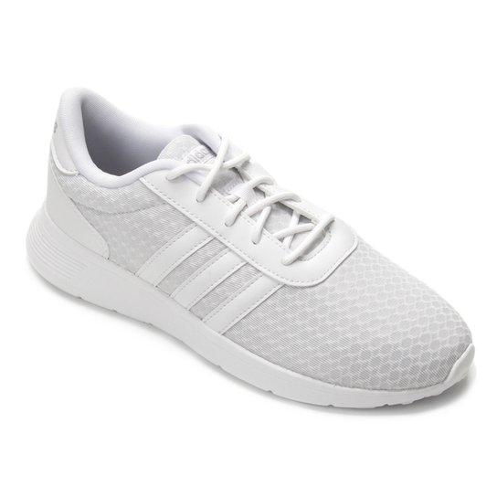 d5bc98cda77d4 Tênis Adidas Lite Racer W Feminino - Branco e Cinza - Compre Agora ...
