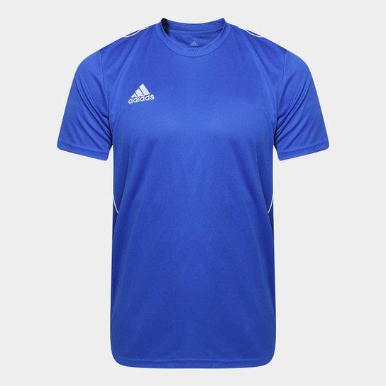 Camiseta Adidas Core 18 Masculina - Azul e Branco - Compre Agora ... bd7a32b94e5