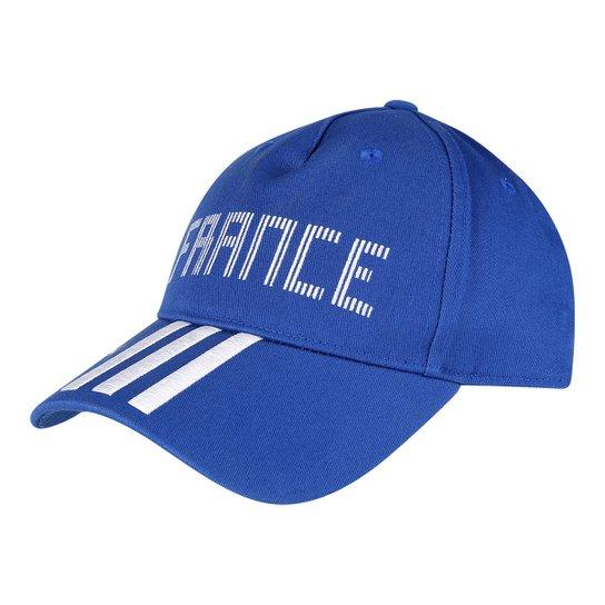 Boné Adidas França Aba Curva 3S - Compre Agora  9f27ae25b51