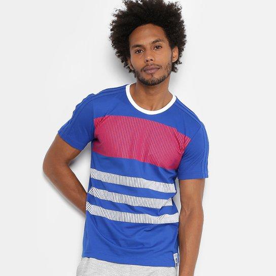 Camiseta Seleção França Adidas CI Masculina - Azul e Branco - Compre ... 91c40d9c6b