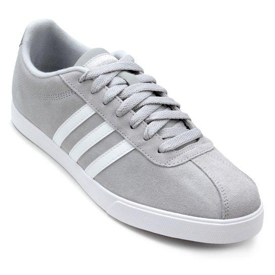4fd4c0403 Tênis Adidas Courtset Feminino - Branco+Cinza