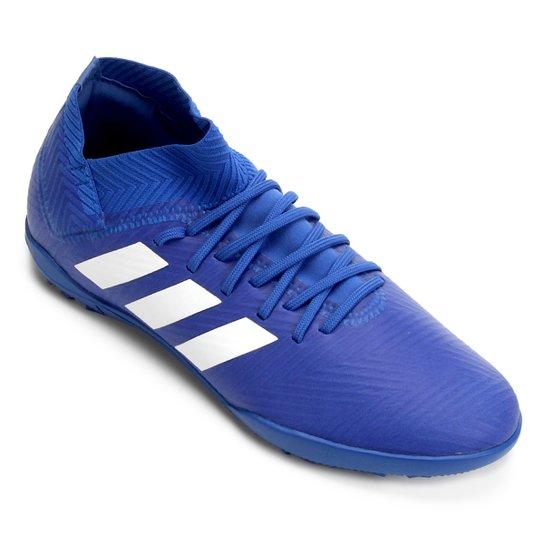 0f69e72861 Chuteira Society Infantil Adidas Nemeziz Tango 18 3 TF - Azul+Branco