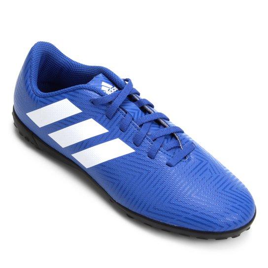 a7fff1e91b3 Chuteira Society Infantil Adidas Nemeziz Tango 18 4 TF - Azul+Branco