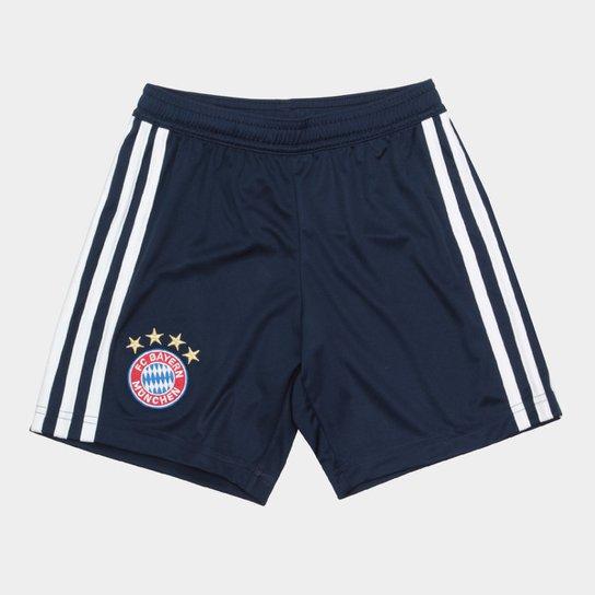 2e4109f098 Calção Bayern de Munique Infantil Home Adidas - Azul e Branco ...