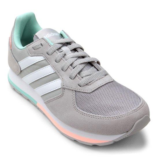 d57ad976cc Tênis Adidas 8K Feminino - Cinza e Branco - Compre Agora