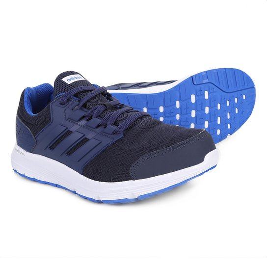 88393b6ce Tênis Adidas Galaxy 4 Masculino - Azul e Branco - Compre Agora ...