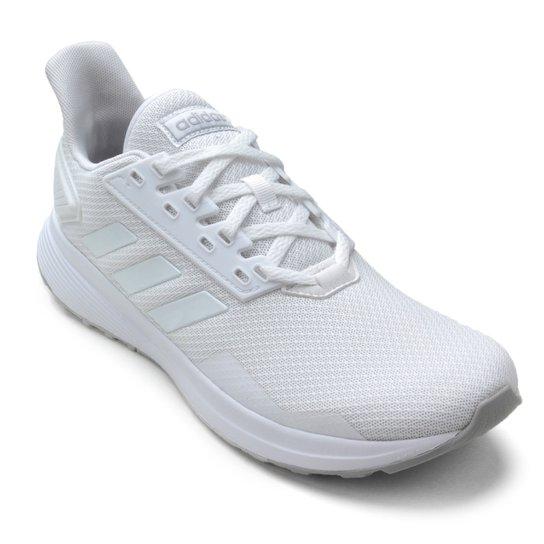 103febd5d53 Tênis Adidas Duramo 9 Feminino - Branco e Cinza - Compre Agora ...