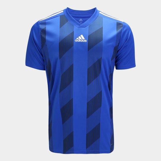 Camisa Adidas Striped 19 Masculina - Azul e Branco - Compre Agora ... 65f5181e0922a