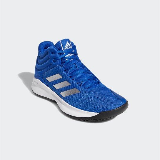 ea402895dd6 Tênis Cano Alto Adidas Pro Spark 2018 Masculino - Azul e Branco ...