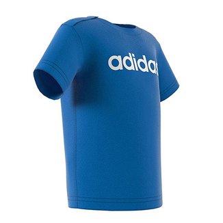 Camiseta Infantil Adidas Estampa Logo Abertura Gola Bebê e68e5866c32