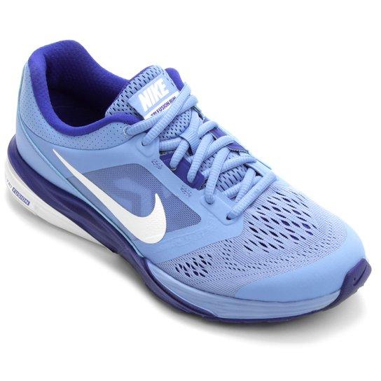 df01029c937 Tênis Nike Tri Fusion Run MSL Feminino - Azul Claro+Branco