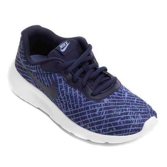 496341de84dd7 Tênis Infantil Nike Tanjun Print - Azul e Branco - Compre Agora ...