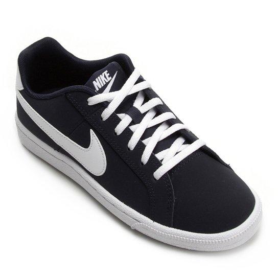 cebb45e6fbab5 Tênis Infantil Couro Nike Court Royale Masculino - Preto e Gelo ...