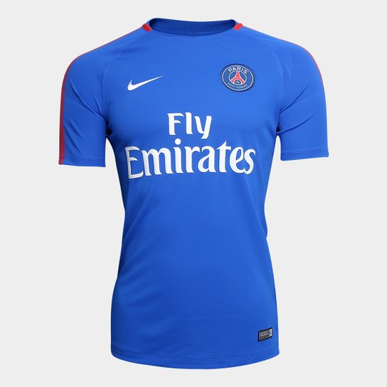 311a486590 Camisa de Treino Paris Saint Germain Nike Masculina - Azul+Branco